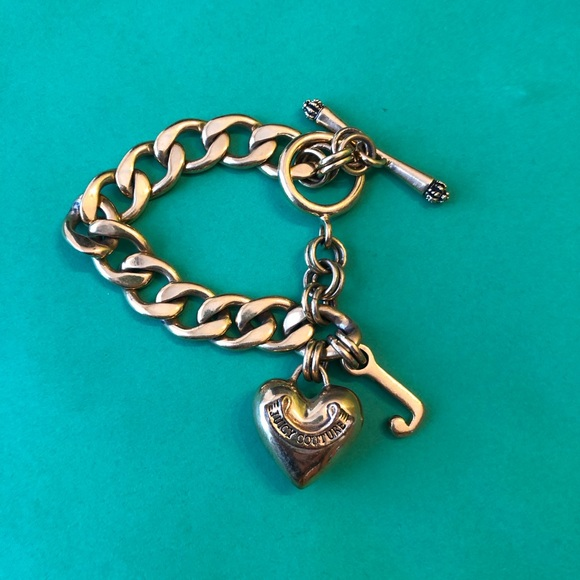 Juicy Couture Jewelry - Juicy couture heart cable bracelet